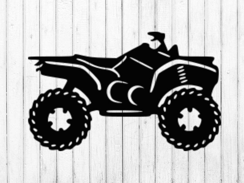 ATV svg, four wheeler svg, 4 wheeler svg.