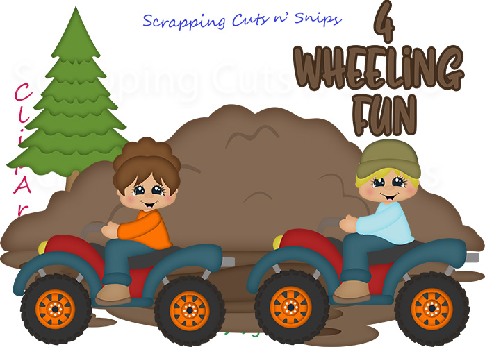 4 Wheeling Fun ClipArt [4 Wheeling Fun ClipArt].