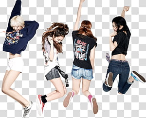 BLACKPINK PRE DEBUT, women dancing transparent background.
