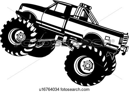 4x4 Truck Clipart.