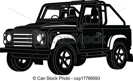 4x4 Jeep Clipart.
