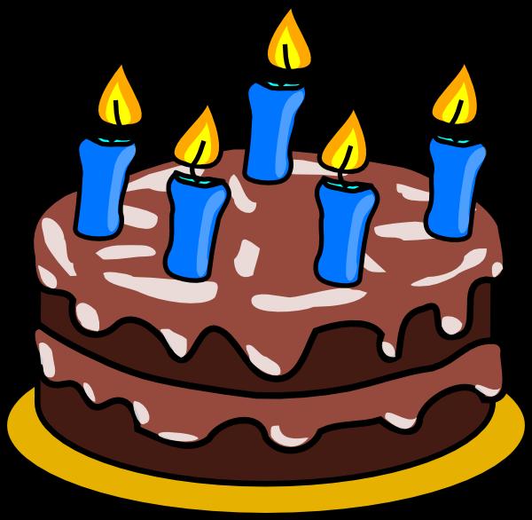 Boy birthday cake clipart.