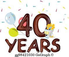 40Th Anniversary Clip Art.