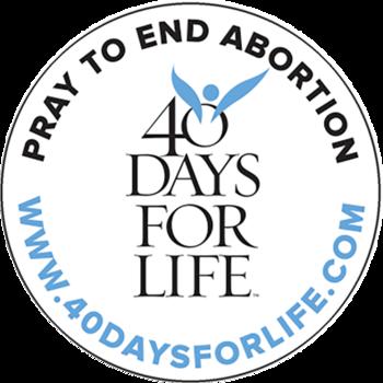 40 Days for Life Begins September 25th; Kick.