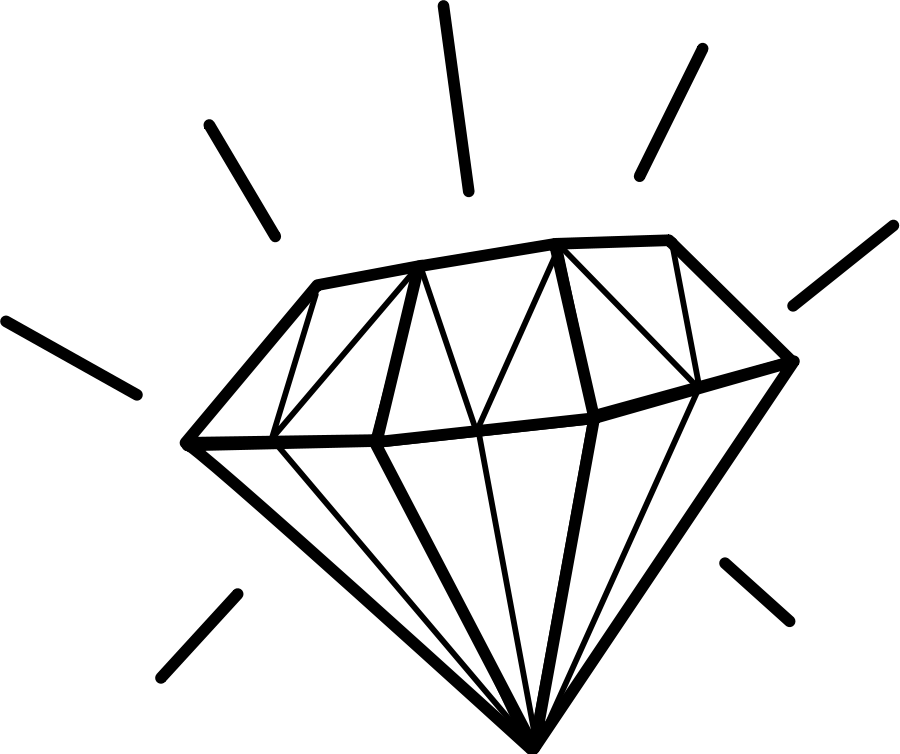 Diamond Clipart Black And White.