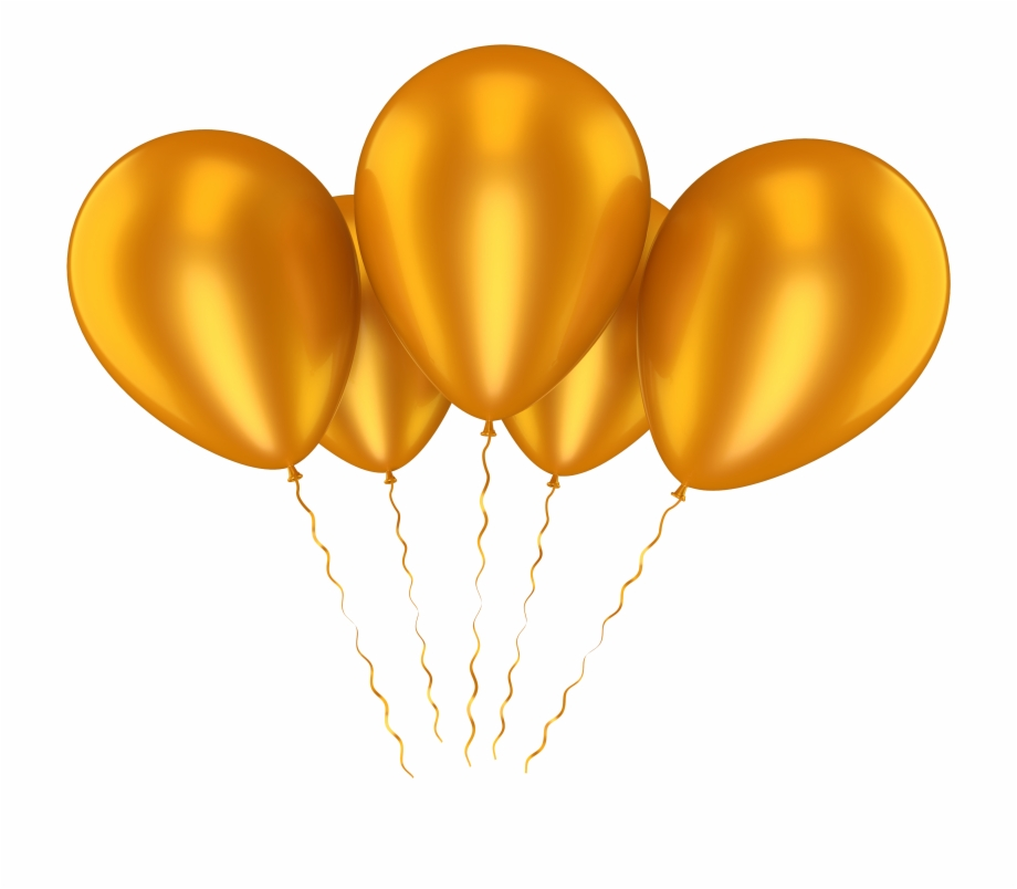 Gold Balloons Png Orange Balloons Transparent Background.