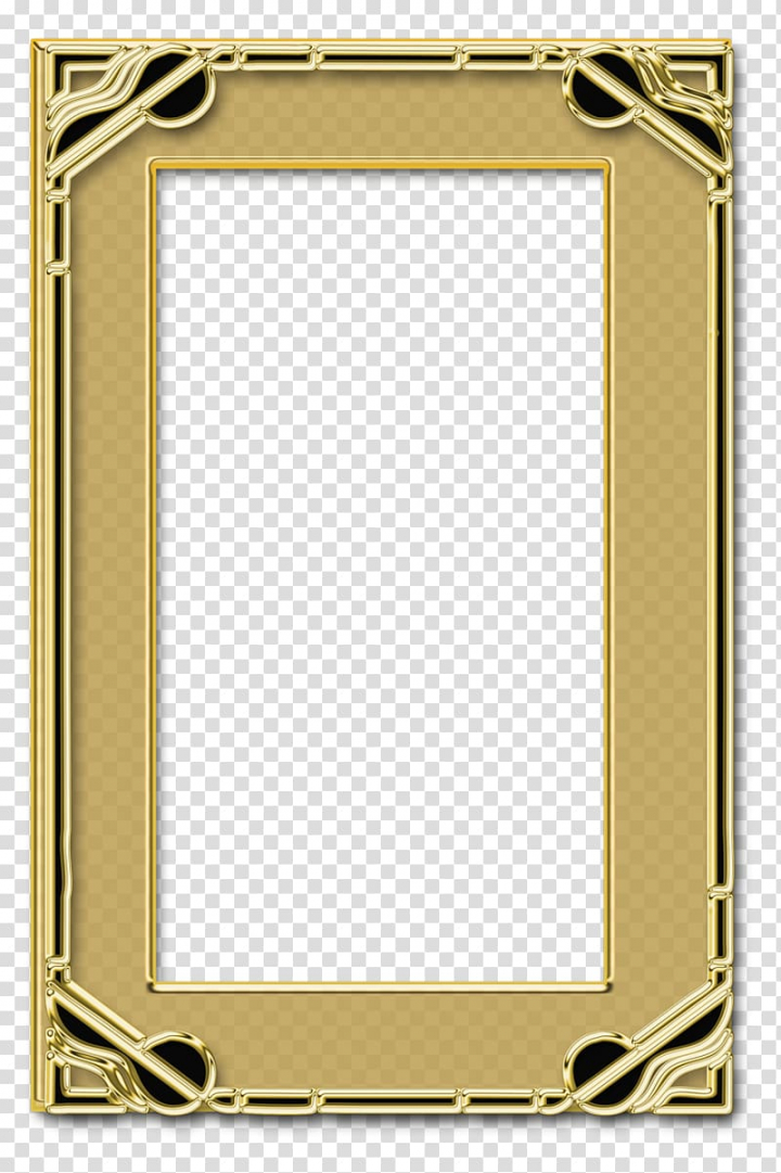 Frames Paint.net, gold frame transparent background PNG.