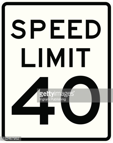 Speed Limit Sign 40 Mph Vector Art.