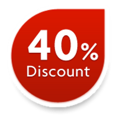 40% Discount Sticker transparent PNG.