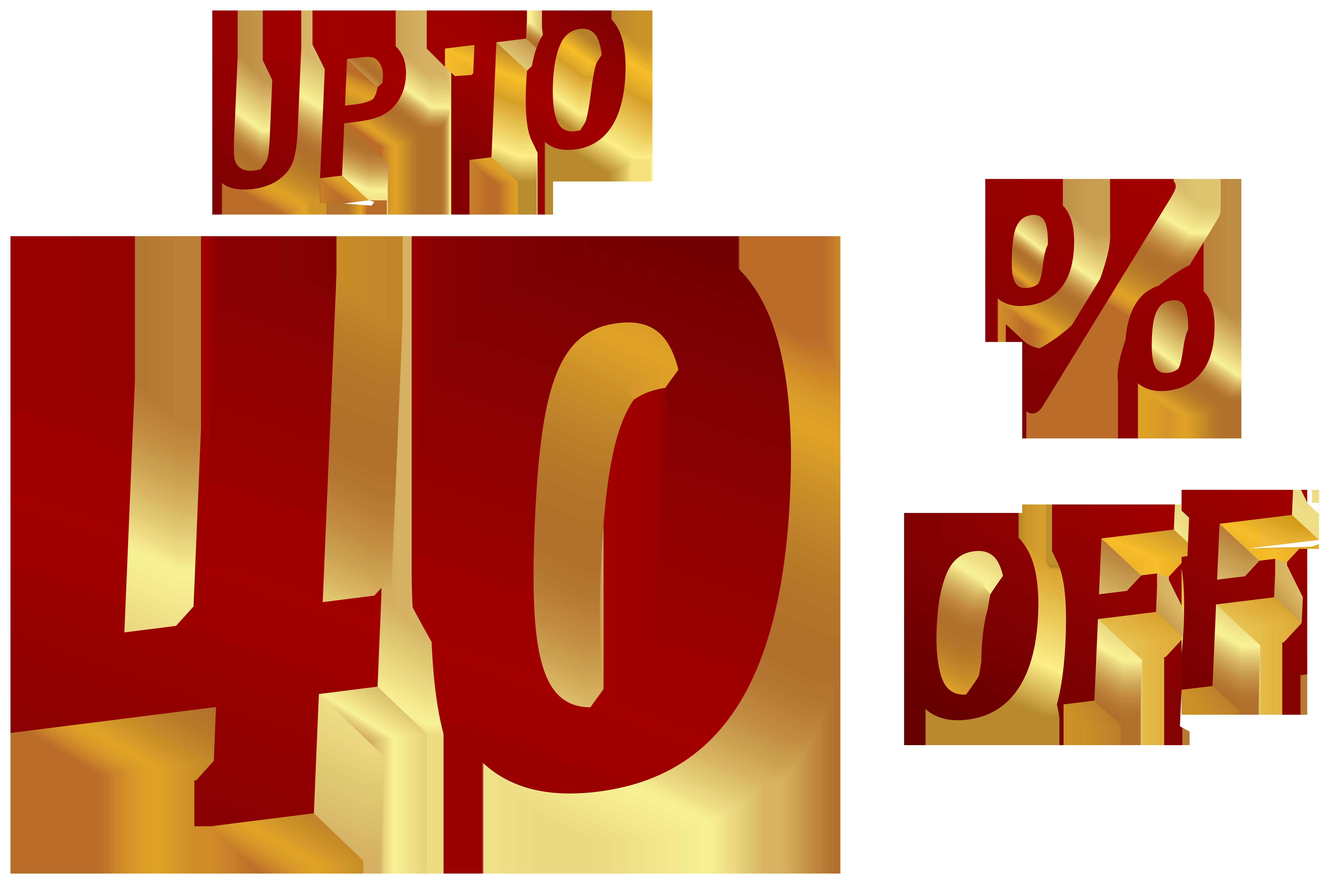 40 Percent Discount Clip Art Image.