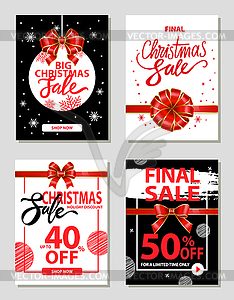 Big Christmas Sale 40 Percent Off Price Promo Set.