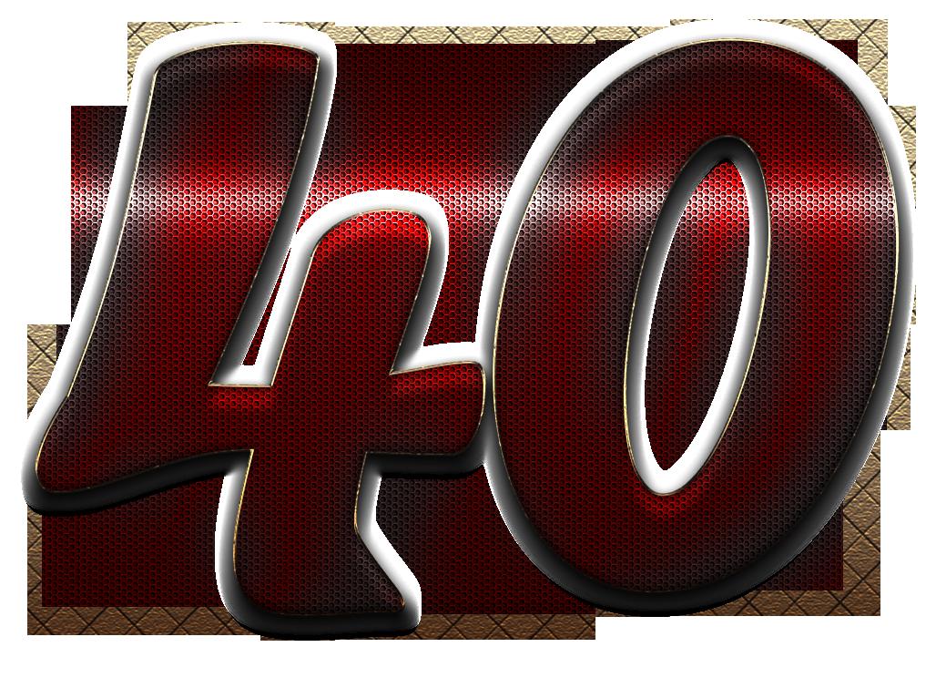 40 Number PNG Transparent Images Free Download.