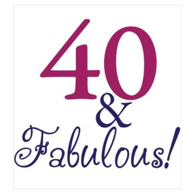 40th birthday clipart for women.