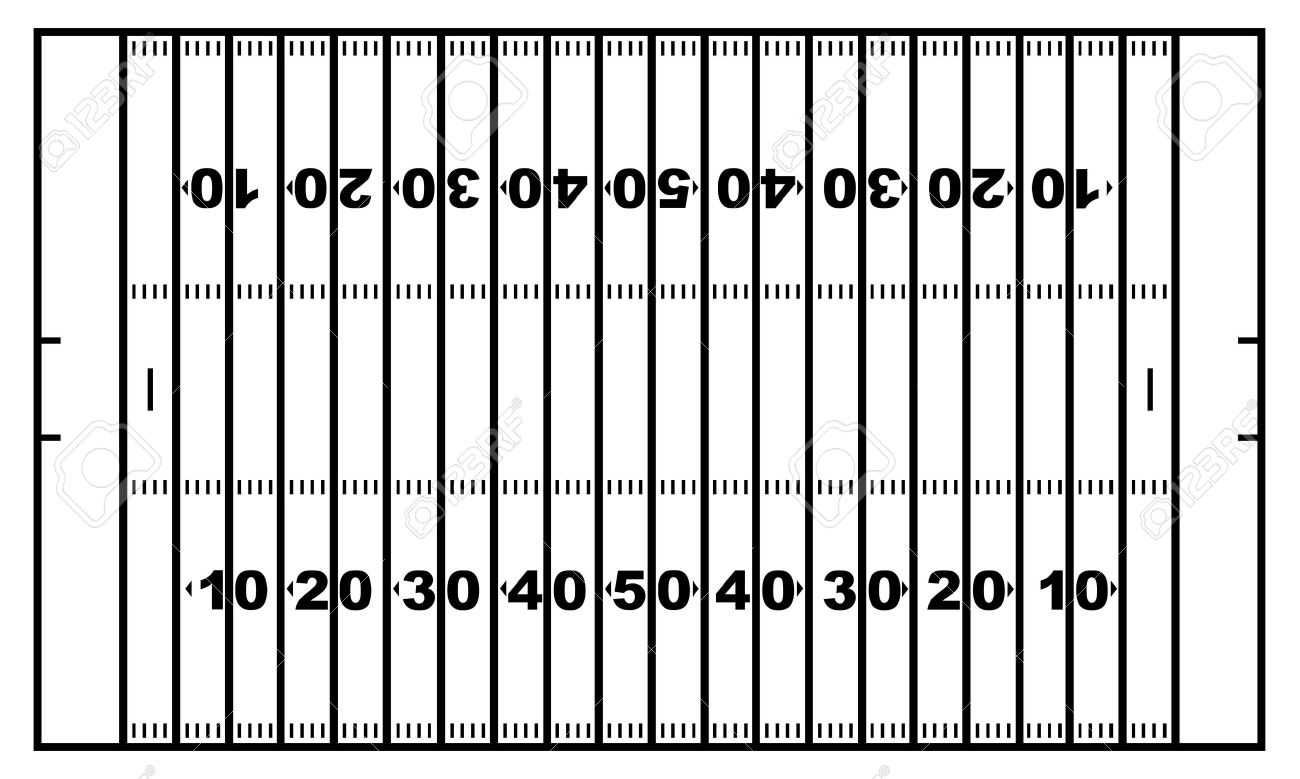 Football Yard Lines Clipart.