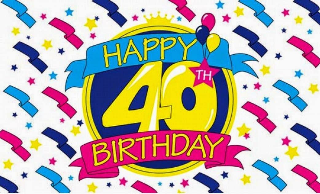 Free 40th Birthday Clipart.