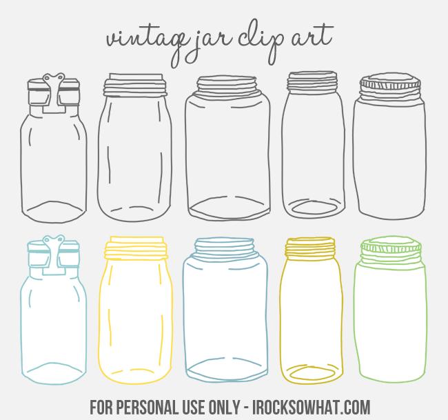 Free Vintage Jar Clip Art by IROCKSOWHAT.com.