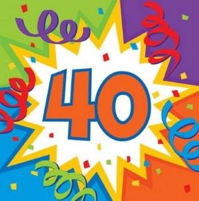 40 Birthday Clipart.