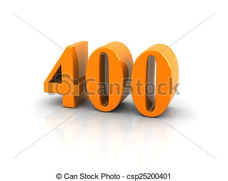 Stock Photography of number 400.