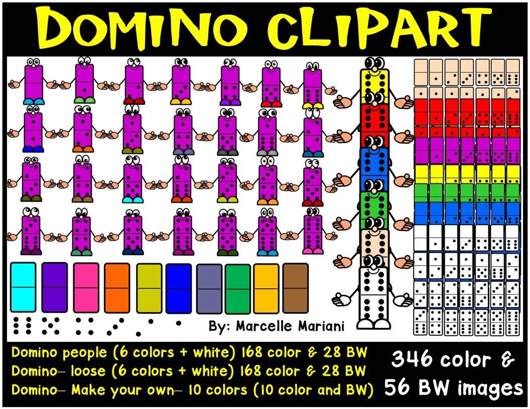 Dominoes pieces Clip Art.
