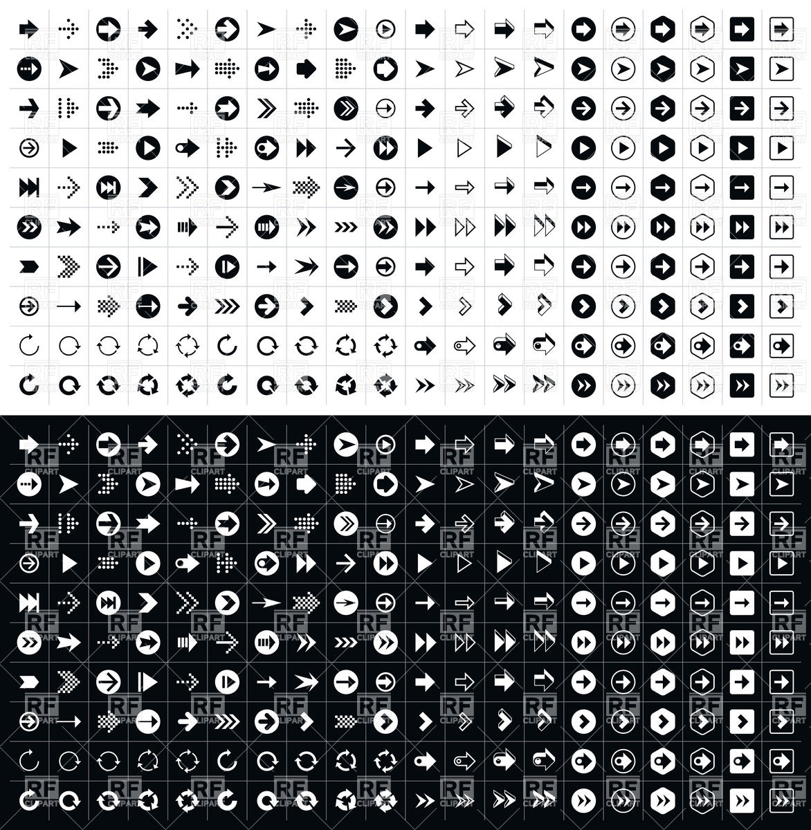400 different shapes arrows Stock Vector Image.