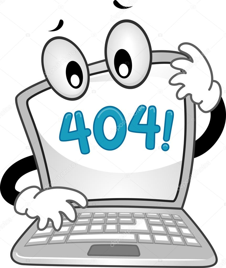 Laptop Showing an Error 404 Sign — Stock Photo © lenmdp #94051170.