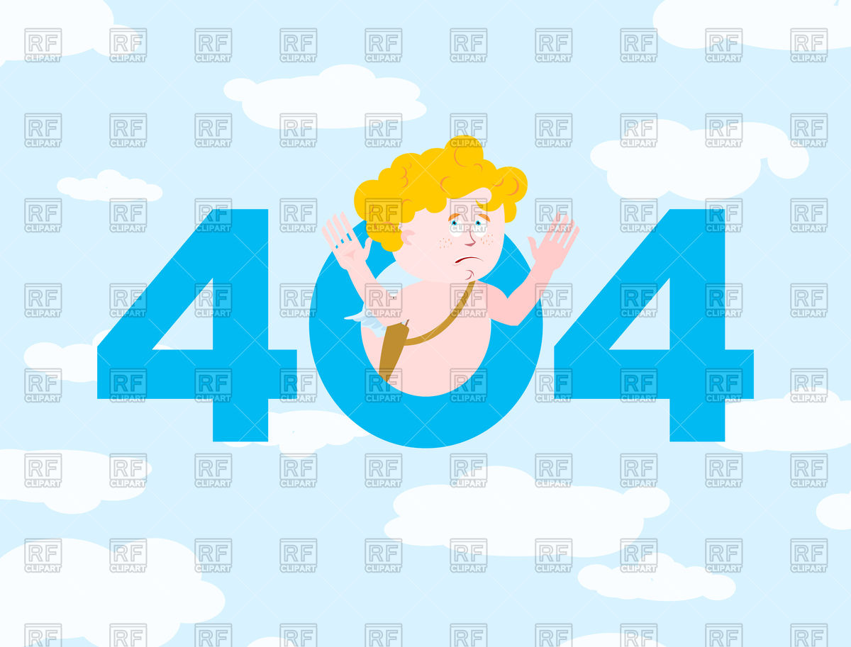 Error 404. Cupid surprise. Vector Image of Fonts & Type © popaukropa.
