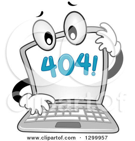 Clipart of Blue Error 404 Characters.