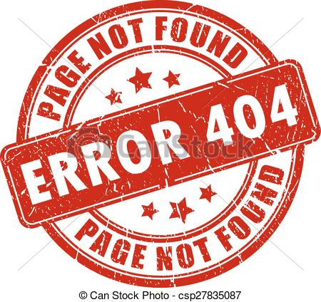 Vector of Error 404 stamp on white background csp27835087.
