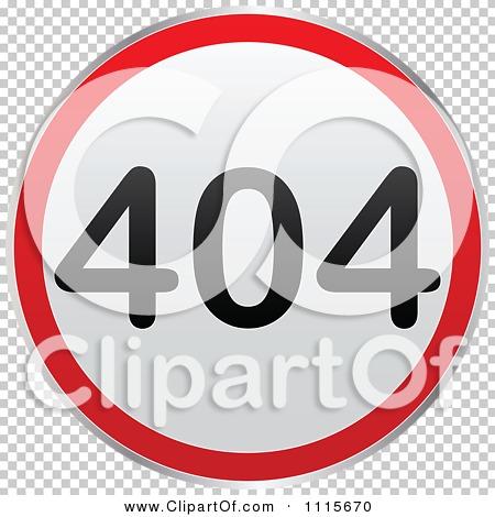 Clipart Round 404 Computer Error Notice.