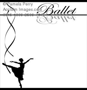 Clip Art Image of a Ballet Dancing Background.