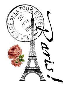 paris clipart postage #409.