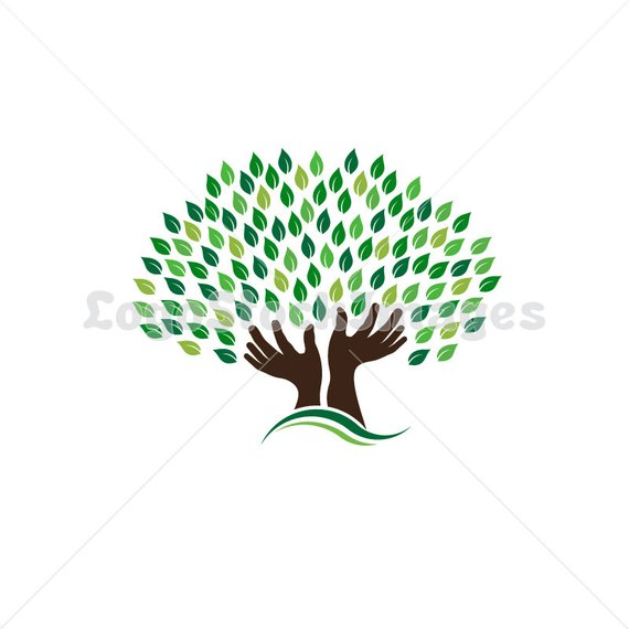 Clip Art Hands Tree, Concept of hope, pray, power.