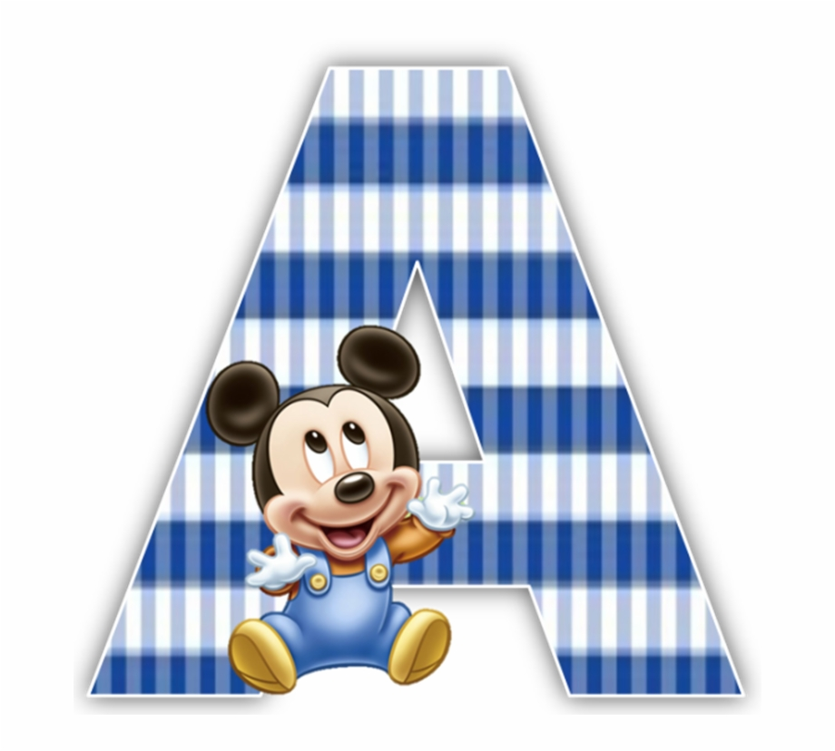 Baby Mickey Mouse 1St Birthday Party Alphabet Numbers.