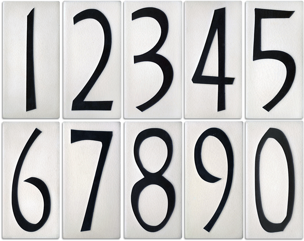 White On Black House Number Tiles Pluspng.