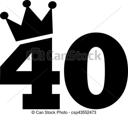 40th Birthday Clipart Pictures.
