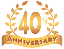 Fortieth Anniversary Stock Illustrations.