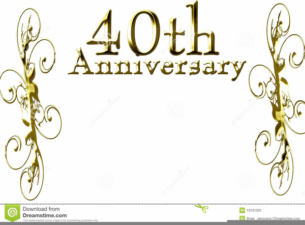 Happy Th Anniversary Free Clipart.