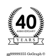 40Th Anniversary Clip Art.