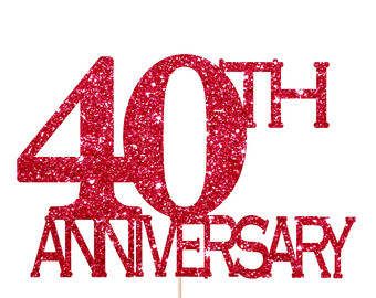 40th Wedding Anniversary Clipart.