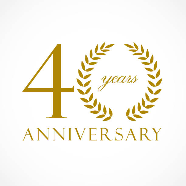 Top 60 40th Anniversary Clip Art, Vector Graphics and Illustrations.