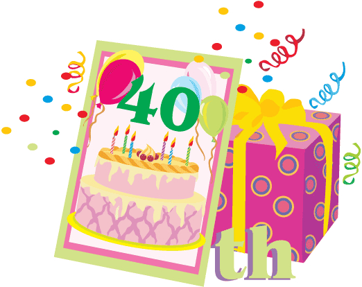 40th Birthday Cake Clip Art.