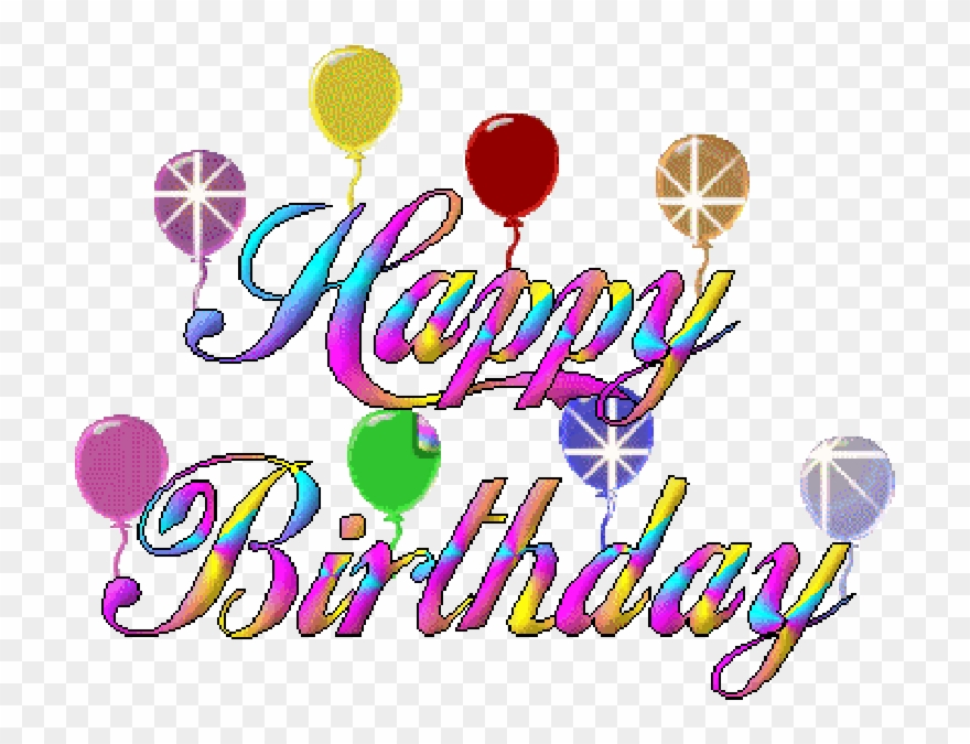 Happy Birthday Celebration Ballons Animated Gif.
