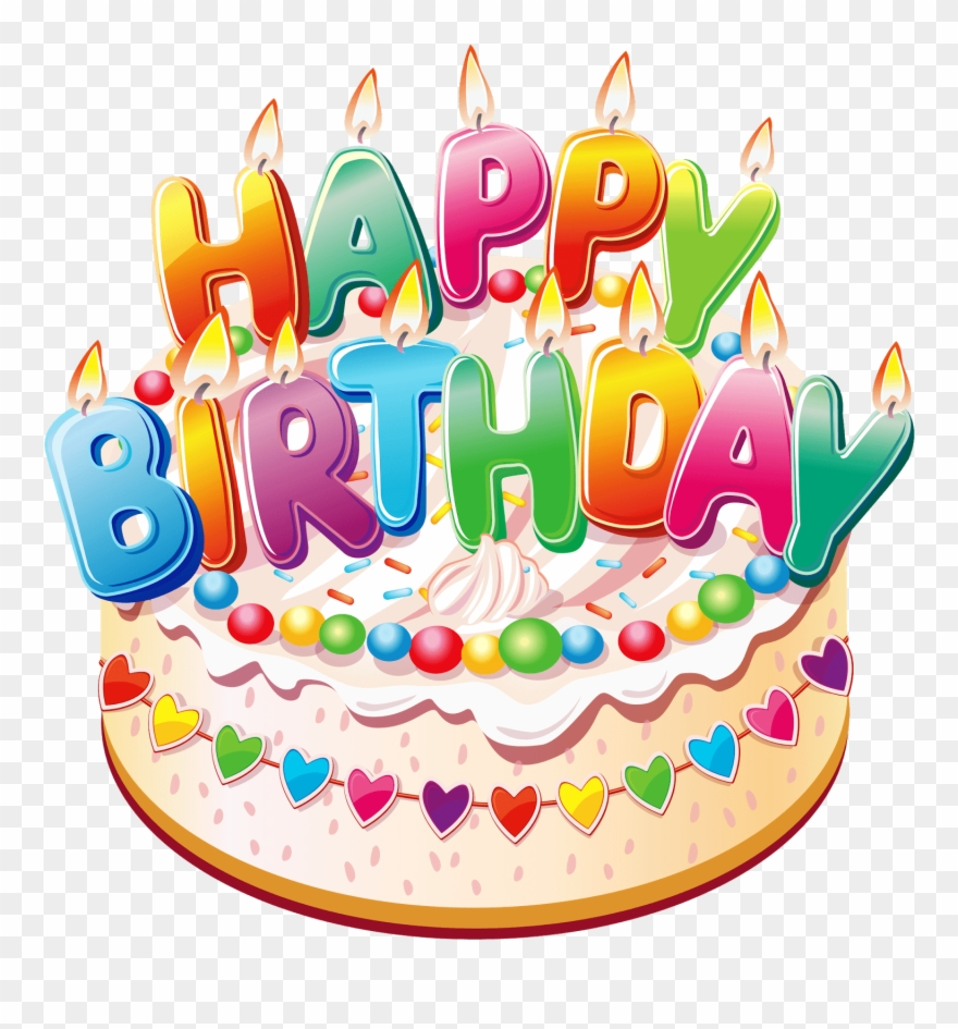 Happy Birthday Cake Png Clipart (#839903).