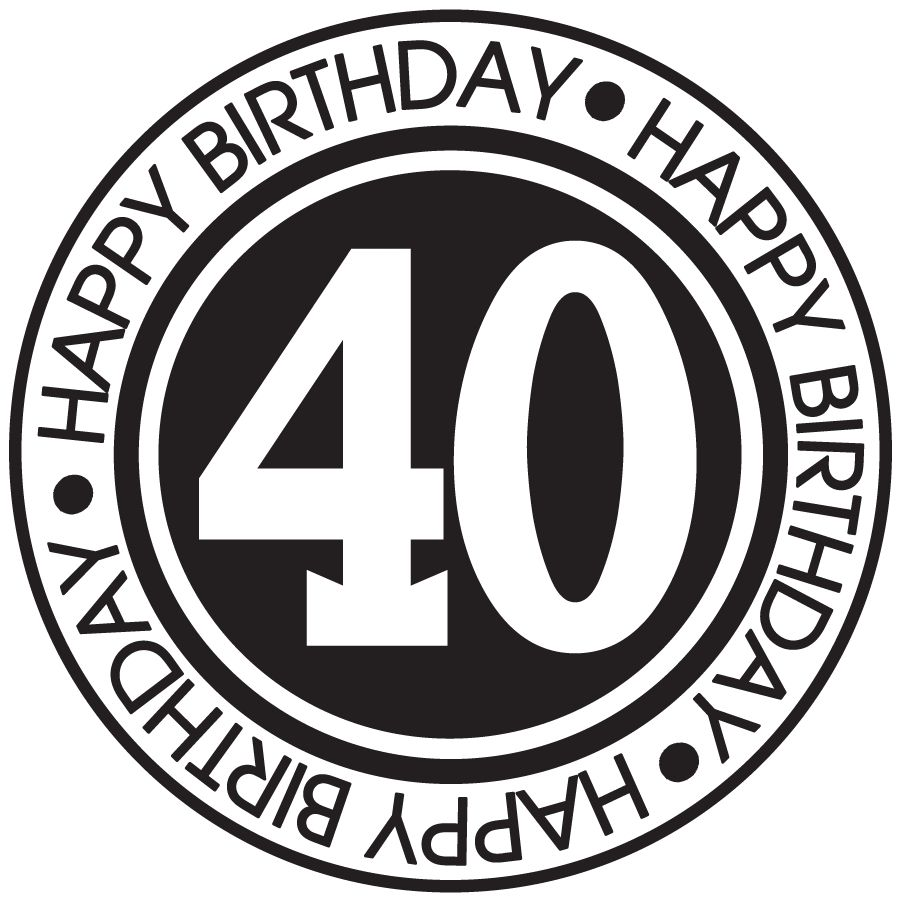 Happy 40th birthday clipart free 7 » Clipart Station.