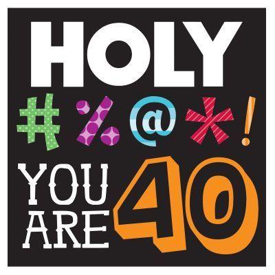 Funny 40th Birthday Clipart.