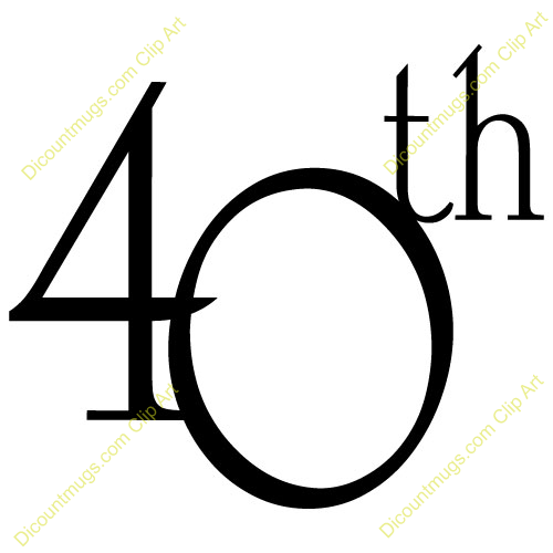 Free Clipart 40th Birthday.