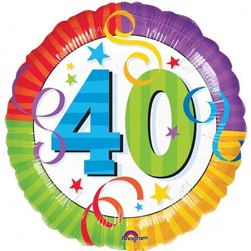 Happy 40th Birthday Clip Art N21 free image.