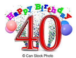 Happy 40th birthday clipart free » Clipart Station.