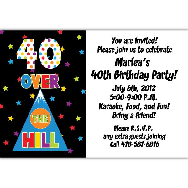 40th birthday invitations 600*600.