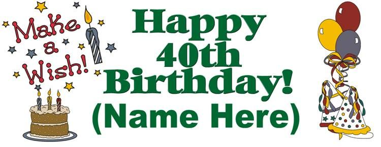 Free 40th birthday clipart 2 » Clipart Station.